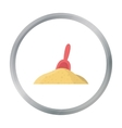 Shovel cartoon icon for web and vector image vector image