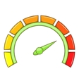 Sport car speedometer icon cartoon style