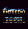 vintage american font on retro background vector image