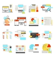 Web Design Flat Icon Set vector image