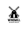 windmill logo icon vector image