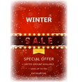 Winter sale flyer with snow vector image vector image