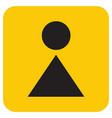 woman toilet icon vector image vector image
