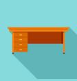 wood desktop icon flat style vector image