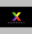 x alphabet letter mosaic design vector image vector image