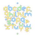 hexagonal mbe alphabet vector image