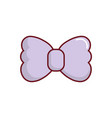 bow tie icon vector image