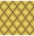 gold rhombus seamless pattern vector image