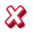 3d bold funny letter x heavy type for modern vector image vector image