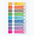 9 data infographics tab paper index template vector image vector image