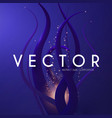 abstract 3d background liquid shapes and light vector image vector image