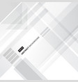 abstract grey and white technology geometric vector image vector image