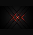 abstract red light cross pattern on grey vector image vector image