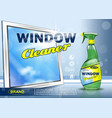 advertising means for cleaning windows realistic vector image