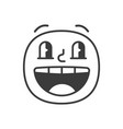 amazed smile fase black and white emoji eps 10 vector image vector image
