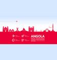 angola travel destination vector image vector image