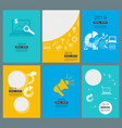annual reports covers business company brochure vector image vector image
