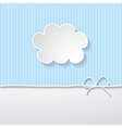 Background with a cloud vector image
