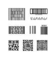 barcode and qr code isolated on a background vector image vector image