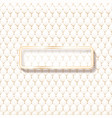beige leather upholstery pattern with frame for vector image vector image
