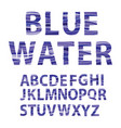 blue water fonts vector image
