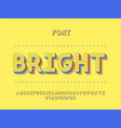 bright font alphabet letters vector image
