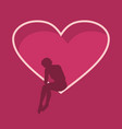 broken love metaphor vector image