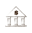 building bank money finance sketch vector image