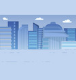 cityscape with skyscrapers houses exterior view vector image