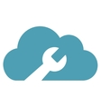 Cloud Tools Flat Icon vector image