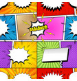 comic book bright seamless pattern vector image vector image