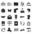 cooperation icons set simple style vector image vector image