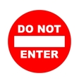 Do not enter sign with text Prohibition concept vector image vector image