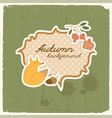 doodle fox autumn background vector image