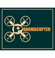 Drone quadrocopter icon Pharmacopter text vector image vector image