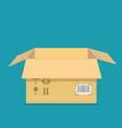 empty open box template cardboard packaging vector image vector image