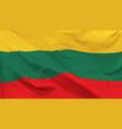 flag republic lithuania vector image vector image