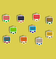 flat icons set of briefcase and currency concept vector image vector image