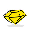 free hand drawing of a diamond vector image vector image