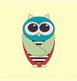 funny owl vector image vector image