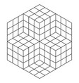 geometric square vector image vector image