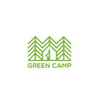 green camp logo vector image