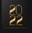 happy new 2022 year holiday vector image