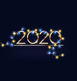 happy new year 2020 sign with colorful fairy vector image vector image