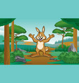 happy rabbit with cartoon style vector image