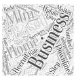 Home Based MLM Business Opportunity Business Word vector image vector image
