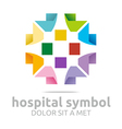 hospital medical colorful icon vector image vector image