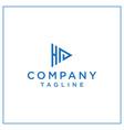 hp or ha triangle logo vector image vector image