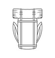 icon of camping backpack vector image vector image