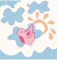 little sweet flying bird vector image vector image